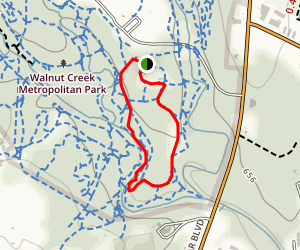Walnut Creek Park Short Loop Map