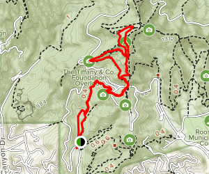 West Trail and Turner Trail to Captains Roost and Mount Hollywood Map