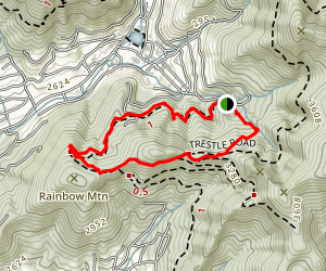 Rainbow Road and Lookout Trail Loop Map