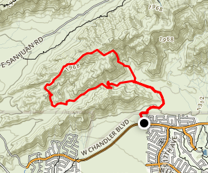National Trail to Gila Trail via Pyramid Trail Map