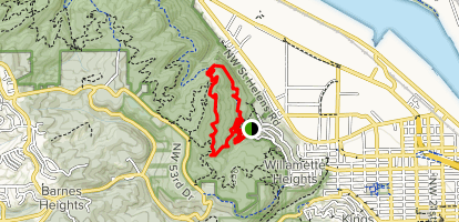 Northwest Leif Erickson Drive, Wild Cherry and Dogwood Trail Loop  Map