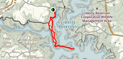 Coot Peninsula Loop Map