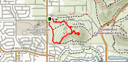 Chuckwalla, Sunrise and Ridgeline Loop Map