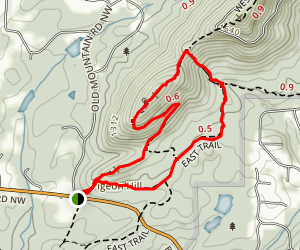 Pigeon Hill Loop Map