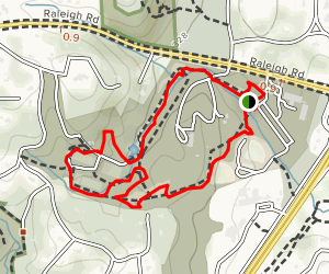 University of North Carolina Disc Golf Circuit Map