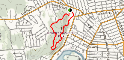 Neutaconkanut Hill Park Loop Map