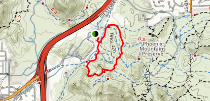 Trail 220 to Trail 100 to Perl Charles Trail 1A Loop Map