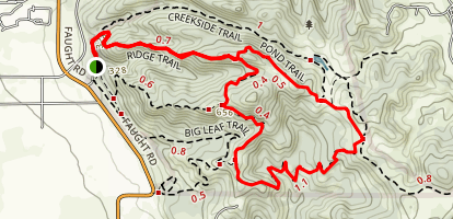 Ridge Trail and Pond Trail and South Ridge Trail Loop  Map