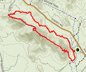 Brown Mountain Trail via Brown Mountain Picnic Area Map