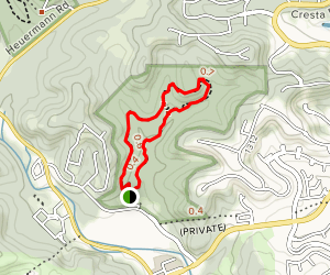 Red Oak and Bear Grass Loop Map