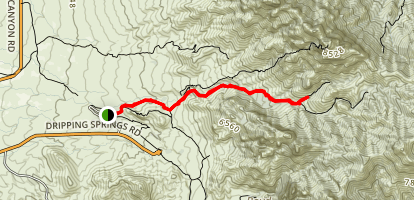 The Narrows via Fillmore Canyon Trail Map