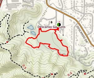 Descanso Gardens Inner Loop Map