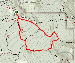 Shangri La Trail to West Tibbetts Creek Trail and Tibbetts Marsh Map