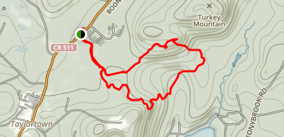 Pyramid Mountain via Blue and Yellow Trail Loop Map