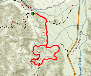 Coffman Trail from Andreas Canyon Rd Map