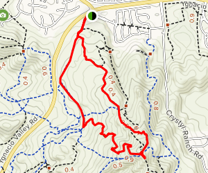 Ohlone Trail to Buckeye Loop Map