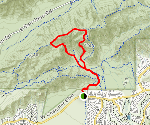 Lost Ranch Ruins Trail to Lost Ranch Mines Trail Loop Map