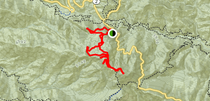 San Gabriel Peak and Mount Disappointment Loop Map