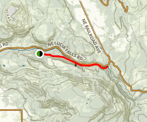 East Fork of the Lewis River Trail: Hantwick Road Trailhead Map
