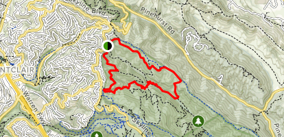Philips, East Ridge, Prince, Stream, Tres Sendas, West Ridge Loop Map