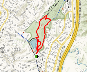 Peters Canyon, Scout and East Ridge View Loop [CLOSED] Map