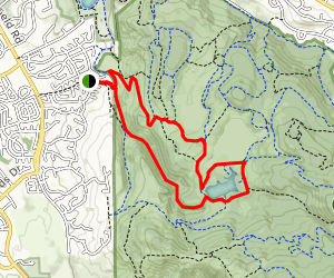 Canyon, Spring Creek, Lake, and Rough Go Trail Map