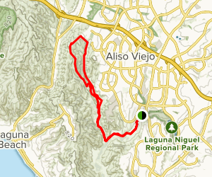 Aliso Creek Trail to Wood Canyon and Rock It Trail Loop Map