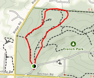 French Park Short Loop Map