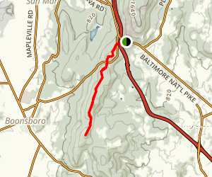 Appalachian Trail to Monument Knob Map