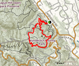 Bear Gulch, Alambique, Meadow and Madrone Trail Loop Map