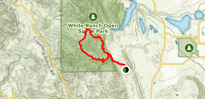 Belcher Hill,  Maverick, Longhorn and Whippletree Trail Loop Map