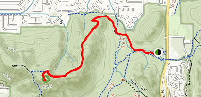 Shaw Butte Trail Map