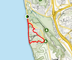 Torrey Pines Beach and Broken Hill Loop Map