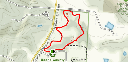 Boone County Arboretum Loop Map