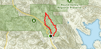 Blue Oak Trail to Volvon Loop Trail to Coyote Trail Map