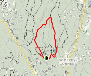 Godfrey Trail to Sap Brook Trail Loop Map