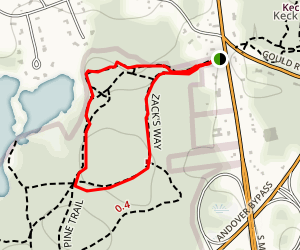 High Trail to Zack's Way Loop Map