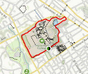 Haverford College Trail Map