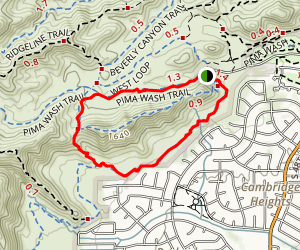 Pima Wash and Desert Classic Loop Map