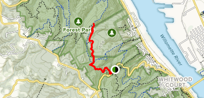 Wildwood Trail to Northwest Newton Road Map