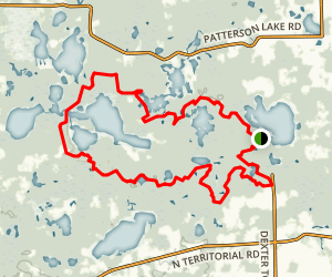 Potawatomi Trail - Half Loop Map