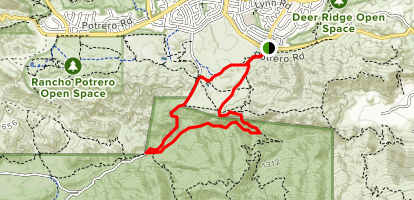 Wendy Connector Trail, Upper Sycamore and Old Boney Trail Loop Map