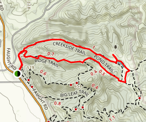 Creekside Trail to Ridge Trail Loop Map