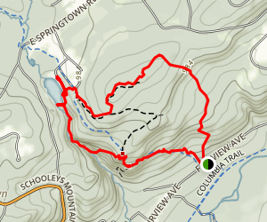 Highland Cut Trail (Red) and Patriots' Path Trail Loop Map