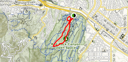 Greenlee and Mesa Loop to Off Leash Dog Area Map