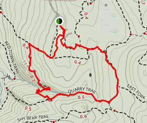 Cave Hole to Coal Creek Falls to Fred's Railroad Trail Loop Map