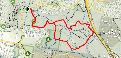 Toohey and Nathan Ridge Track  Map