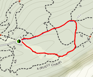Rocky Ridge Trail 1 Loop Map