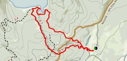 Woodland and Lake Creek Trail Loop Map