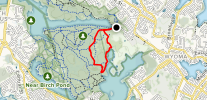 Cooke Road and Cornel Path Loop Map